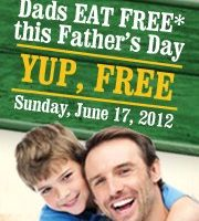 Dads eat free at Beef 'O' Brady's