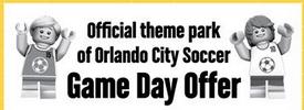 Free Legoland entry with Orlando City Soccer ticket