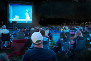 Free outdoor holiday movies near Orlando