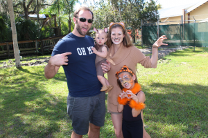 Central Florida Zoo Boo Bash: image of family in Halloween costumes at the zoo