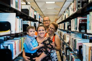 Free passes with Local Wanderer: image of family at the Orlando library