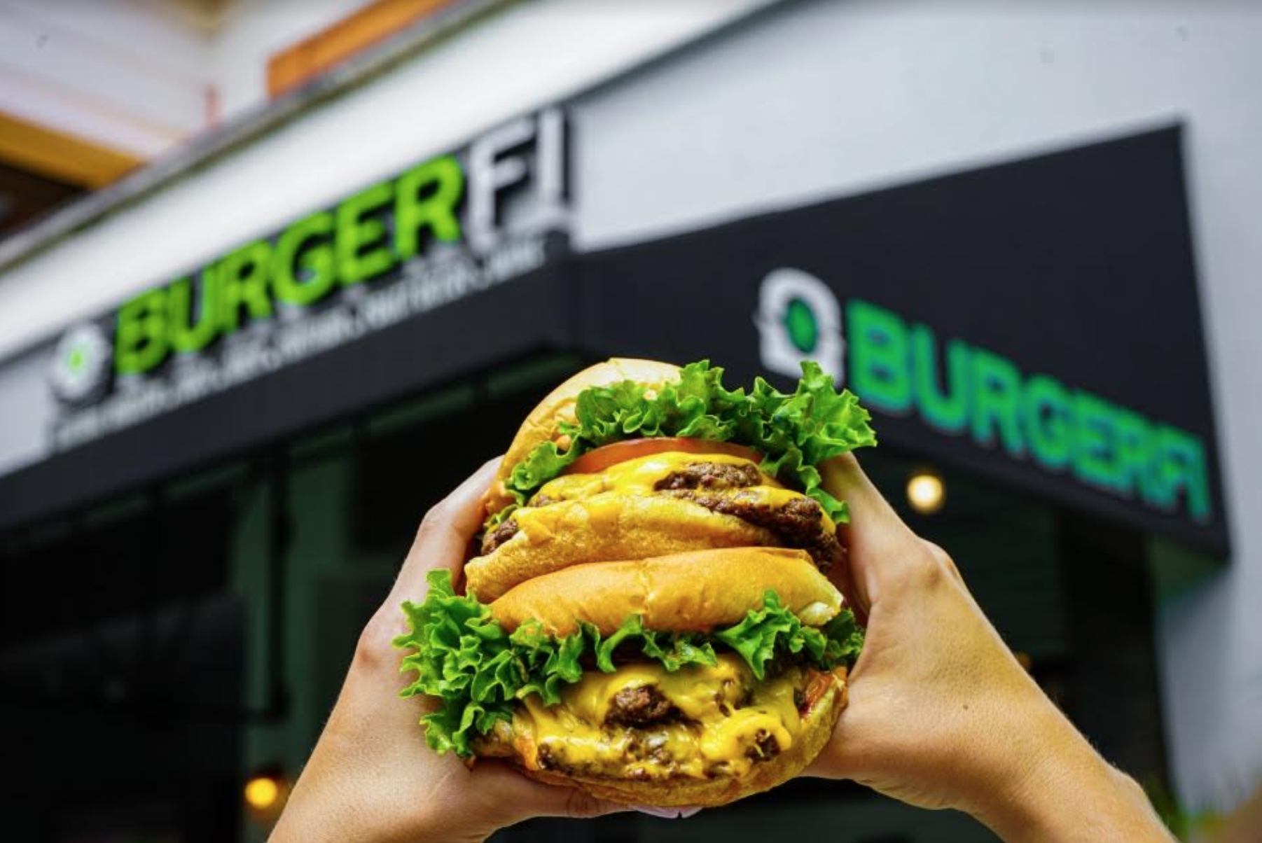 National Cheeseburger Day Deals: image of BurgerFi cheeseburger