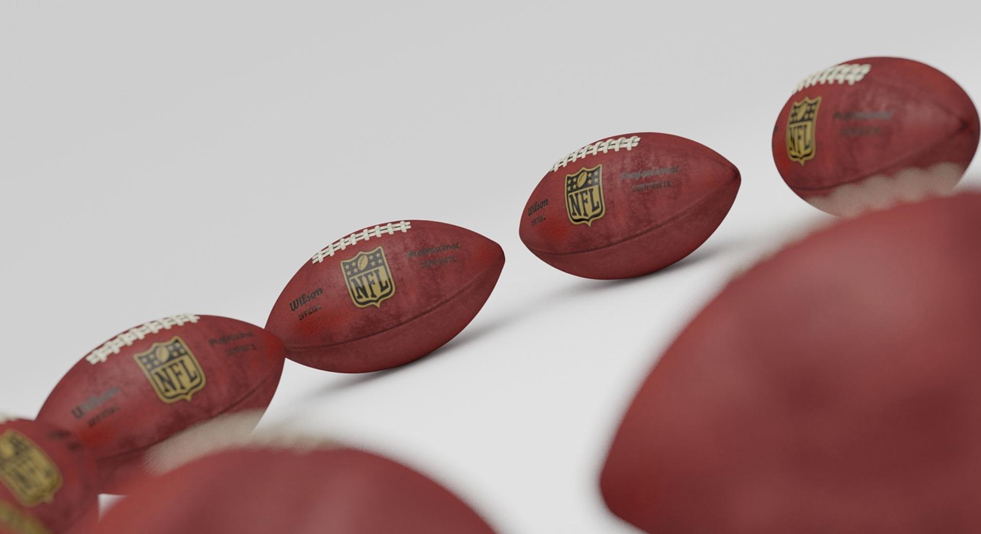 Superbowl deals and discounts 2021: image of NFL footballs
