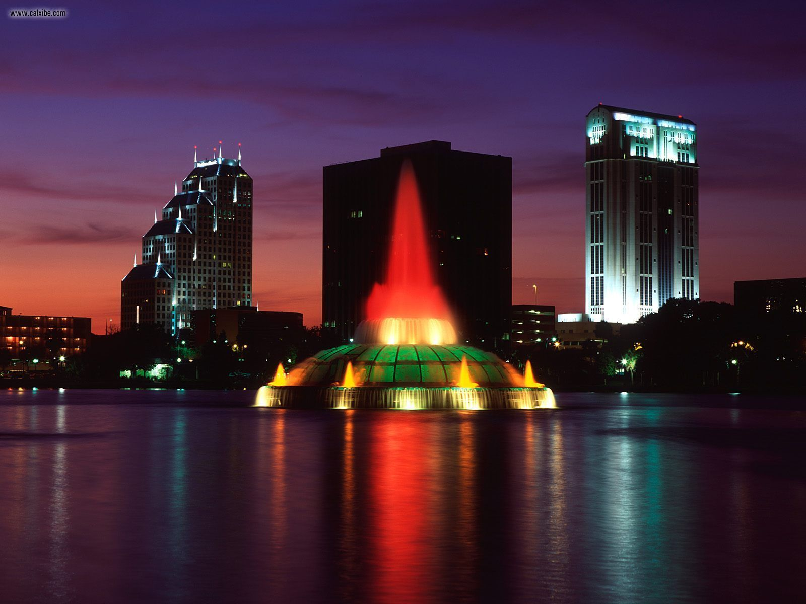 Lake Eola fountain show