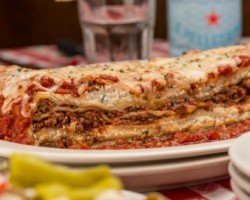 Half-price lasagna at Buca di Beppo