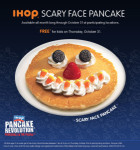 IHOP: Free 'Scary Face' pancake for kids on Oct. 31