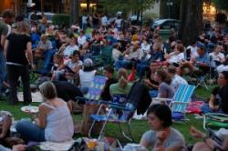 Free outdoor movie in Winter Park at Popcorn Flicks
